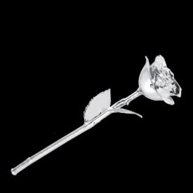 Silver Rose with Stand